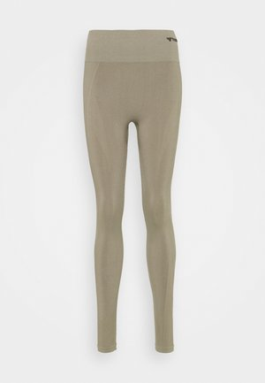 SEAMLESS HIGH WAIST  - Leggings - vetiver