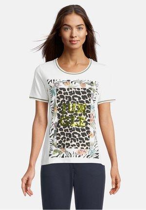 Print T-shirt - weiß schwarz