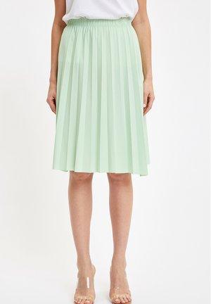 Pleated skirt - turquoise