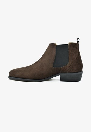 Korte laarzen - brown suede