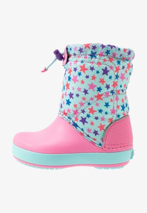 LODGEPOINT GRAPHIC - Botas para la nieve - ice blue/pink lemonade