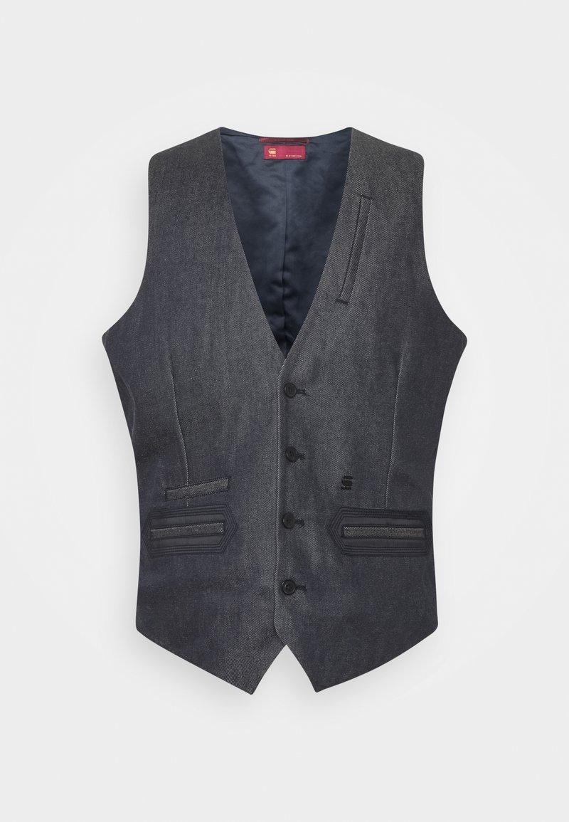 G-Star - TUXEDO WAISTCOAT - Vest - raw denim