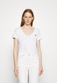 Abercrombie & Fitch - 5 PACK - T-shirts - white/tan/rose/blue/black - 2