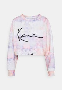Karl Kani - SIGNATURE TIEDYE CROPPED CREW - Sweatshirt - multicolor
