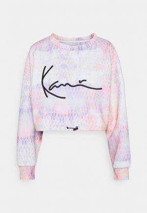 SIGNATURE TIEDYE CROPPED CREW - Sweatshirt - multicolor
