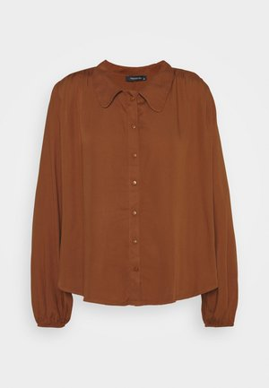 TARÇIN - Button-down blouse - cinnamon
