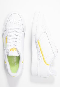 adidas Originals - CONTINENTAL 80 - Sneakers - footwear white/yellow/semi frozen yellow - 3