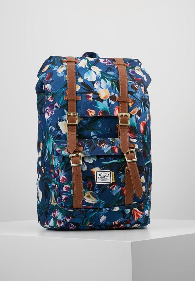 LITTLE AMERICA MID VOLUME - Rucksack - royal hoffman/tan