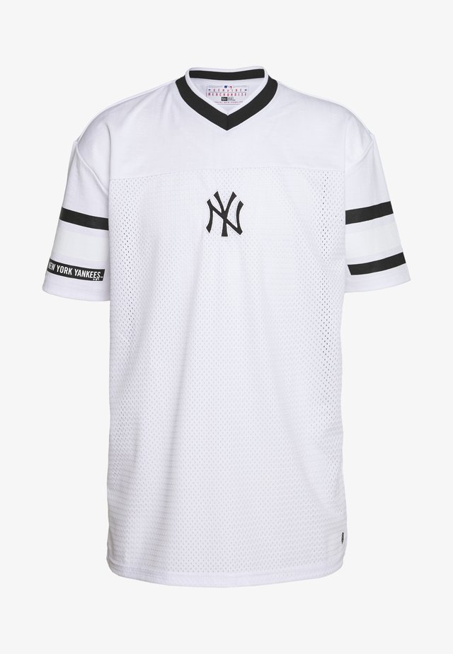 MLB NEW YORK YANKEES OVERSIZED MESH TEE JACQUARD - T-shirt imprimé - white