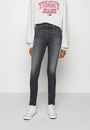 NORA ANKLE - Jeans Skinny Fit - aster black stretch destructed