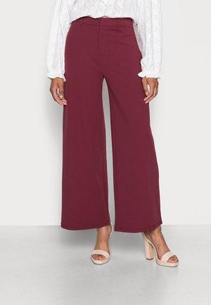 Spodnie materiałowe - dark red