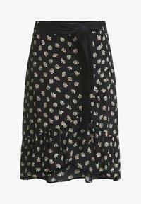 Oui - A-line skirt - black offwhite - 4