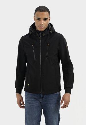 MIT STEHKRAGEN UND KAPUZE - Summer jacket - black