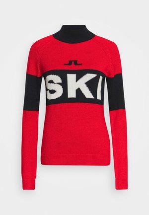 ALVA SKI - Strikkegenser - racing red