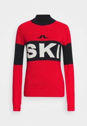ALVA SKI - Stickad tröja - racing red