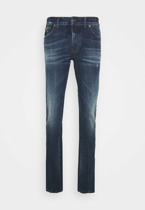 RUCKER - Slim fit jeans - blue med