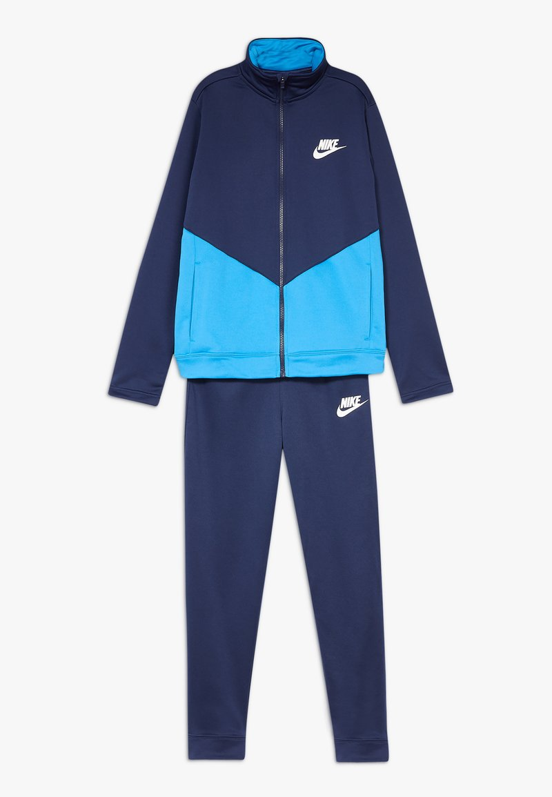 Nike Sportswear - B NSW CORE TRK STE PLY FUTURA - Chaqueta de entrenamiento - midnight navy/laser blue/white