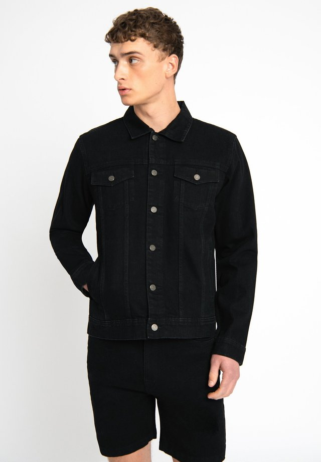 LDN DNM BLACK DENIM TRUCKER JACKET - Farkkutakki - black