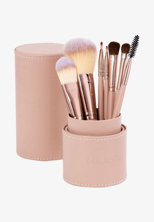 7PK MAKEUP BRUSH, CYLINDRIC CASE - Makeupbørstesæt - mix