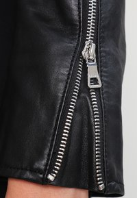 Ibana - BEAR BLAZE - Kožená bunda - black/silver - 5