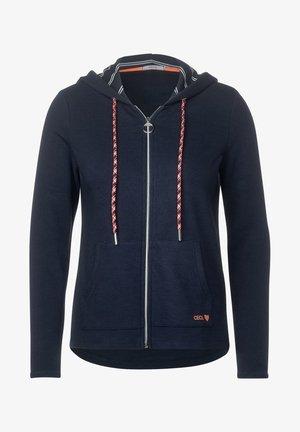 MIT STRUKTUR - Zip-up hoodie - blau