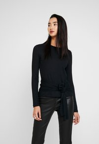 Zign - Camiseta de manga larga - black - 0