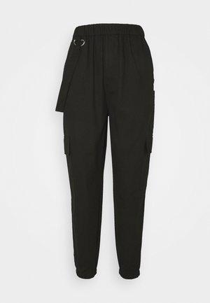 RING STRAP PANT - Bukser - black