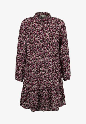 WITH ALLOVER FLORAL PRINT - Day dress - off black