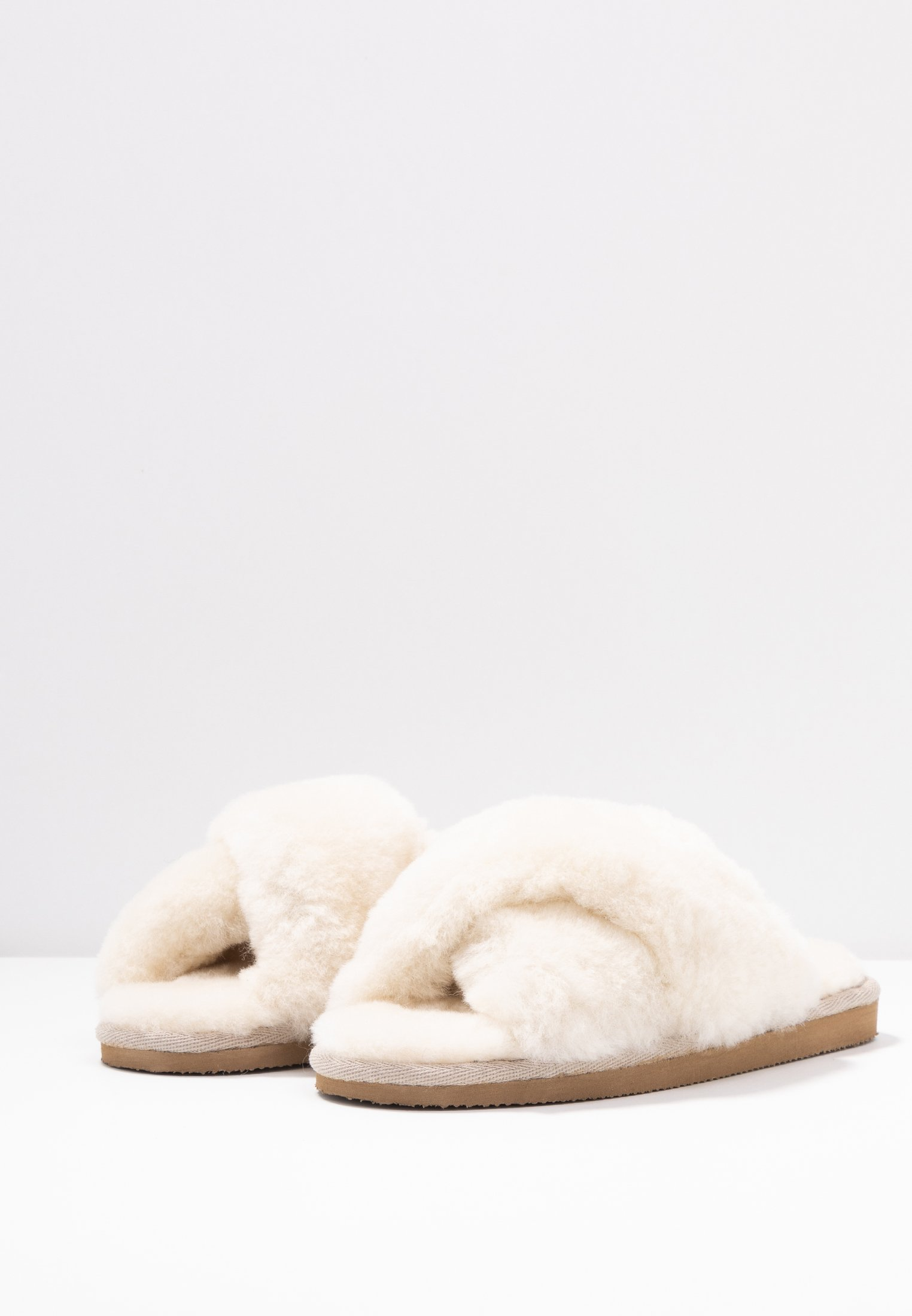 Shepherd Lovisa - Hausschuh Creme/offwhite