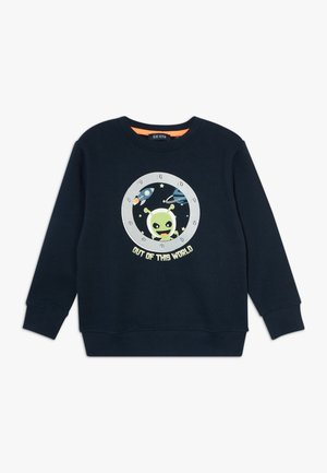 KIDS GLOW IN THE DARK ALIEN  - Sweater - nachtblau original
