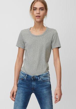 HALFSLEEVE - T-Shirt basic - stone melange
