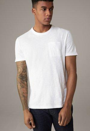 Colin - Basic T-shirt - weiß strukturiert
