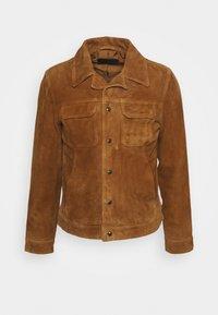 ADAIRE JACKET - Leather jacket - tan