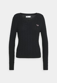 Hollister Co. - ICON CABLE - Jumper - black - 4