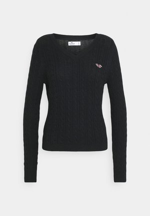 ICON CABLE - Pullover - black