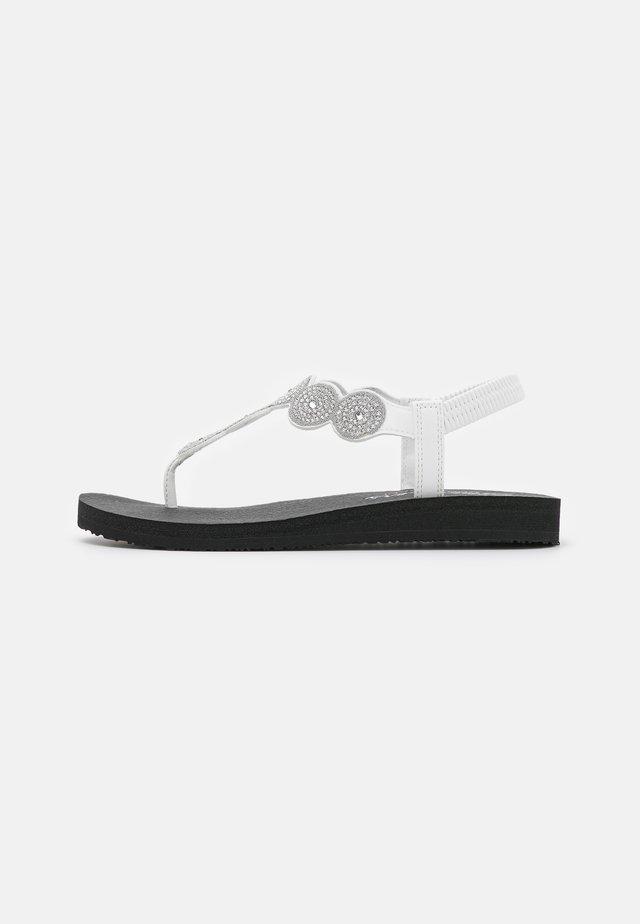 MEDITATION - T-bar sandals - white