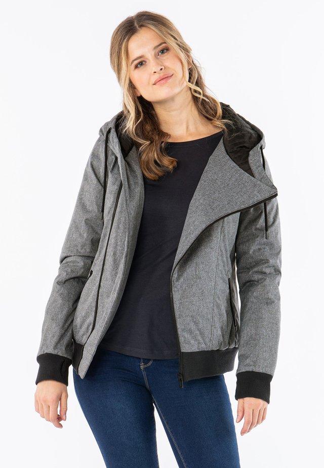 WINTER-JACKE MIT KAPUZE - Winter jacket - grey