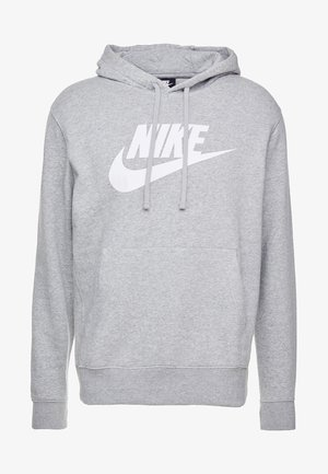 Hoodie - dark grey heather/dark steel grey/white