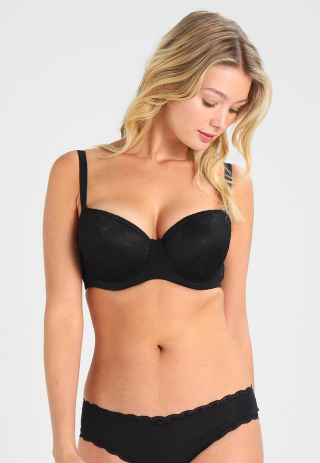 ANNA PADDED BRA SOLID  - Underwired bra - black