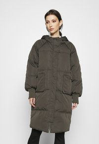 YAS - YASSOLEA JACKET - Down coat - black olive - 0