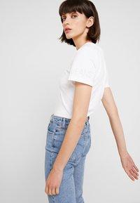 Calvin Klein Jeans - REVERSED LOGO MODERN SLIM TEE - Print T-shirt - bright white - 3