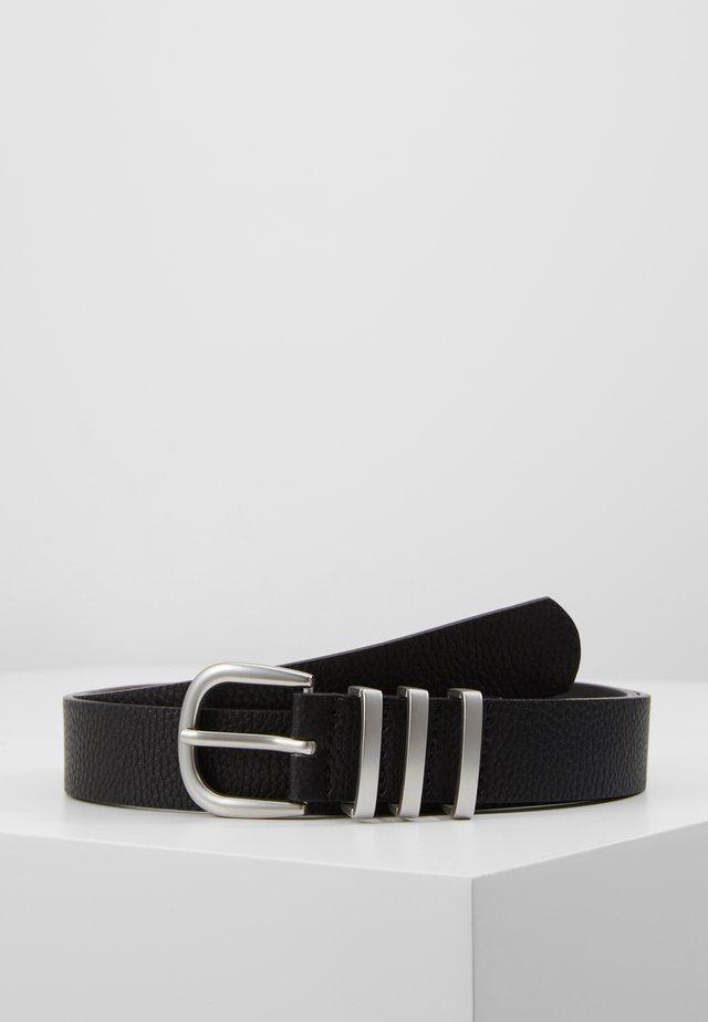 PCLEA JEANS BELT - Pasek - black/silver