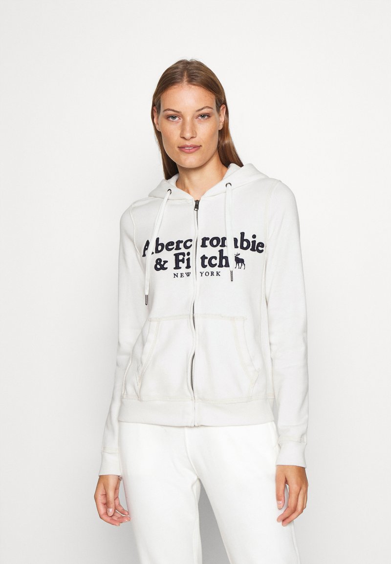Abercrombie & Fitch - LONG LIFE FULL ZIP - Hettejakke - white