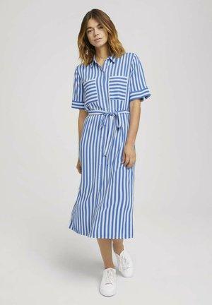 Robe chemise - mid blue white stripe