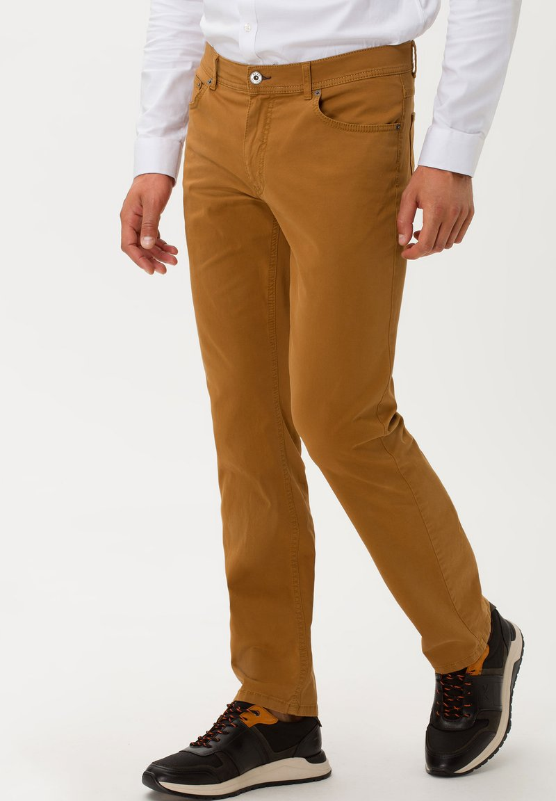 BRAX - STYLE COOPER FANCY - Straight leg jeans - curry