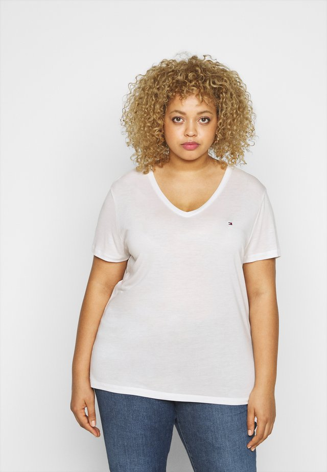 RELAXED V NECK - T-shirt basic - ecru