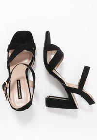 Dorothy Perkins - SELENA BLOCK  - Højhælede sandaletter / Højhælede sandaler - black - 1