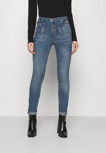 RAMPY - Slim fit jeans - denim blue dazed wash
