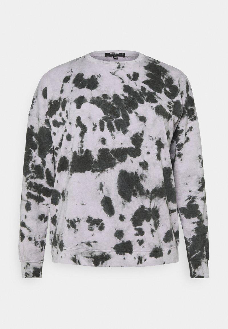 Missguided Plus - TIE DYE - Sweatshirt - lilac