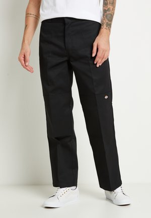 DOUBLE KNEE WORK PANT - Kangashousut - black